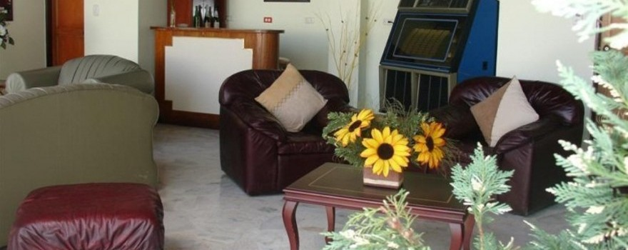 Sala de estar y  bar. Fuente: hotelelbosquearmenia.com
